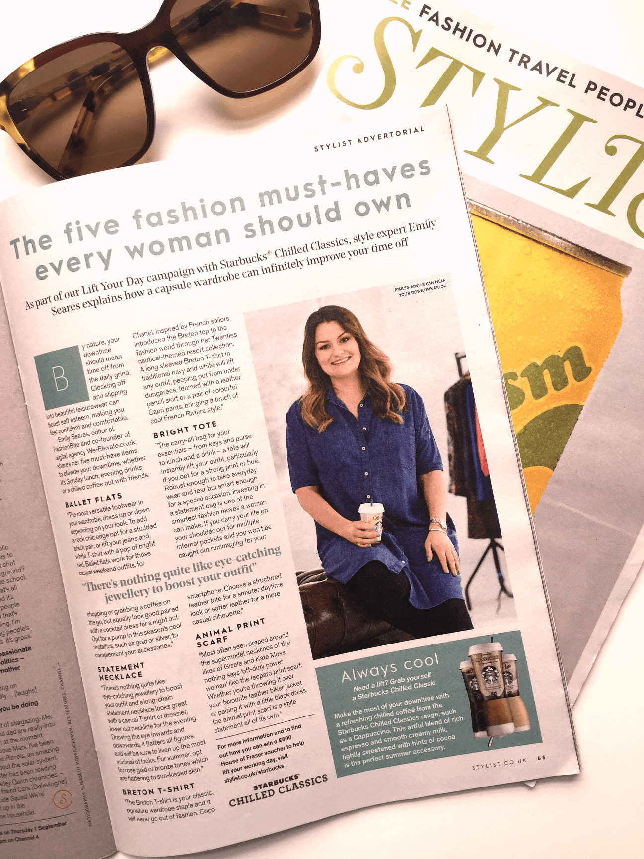 FashionBite editor Emily Seares in Stylist magazine