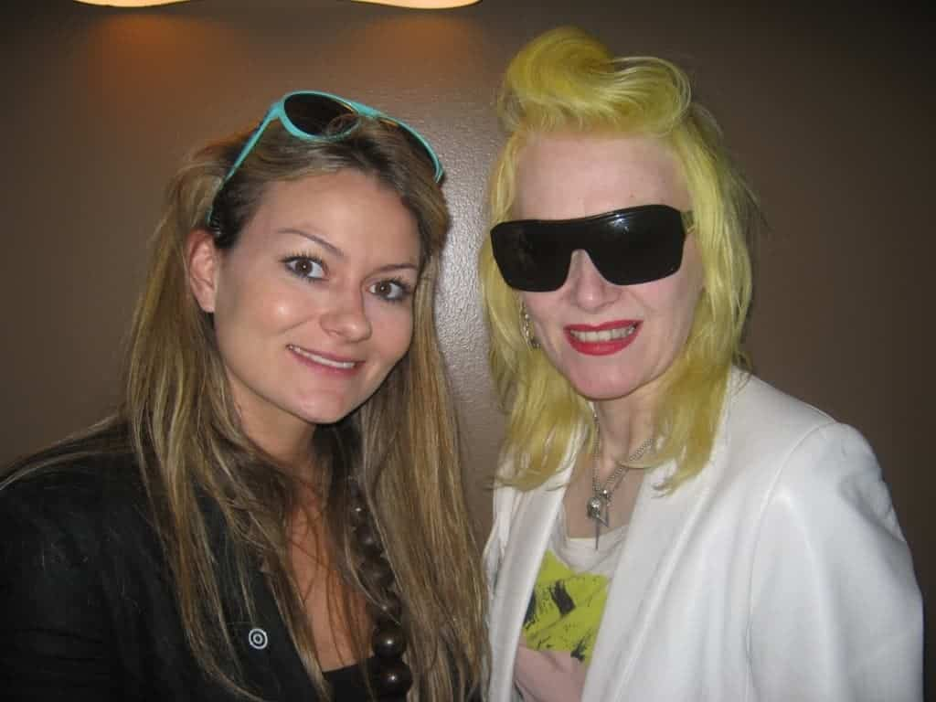 Emily Seares at FashionBite and designer Pam Hogg