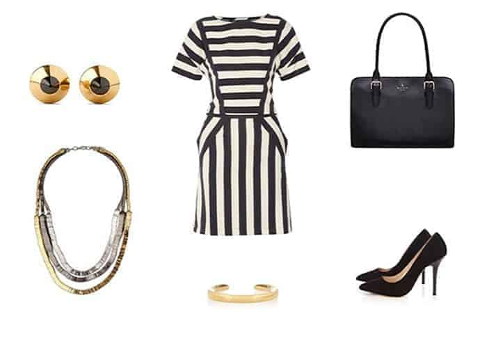 Monochromic Stripes & Touch of Luxurious Gold
