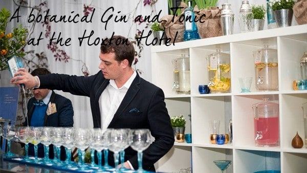 The Gin Garden and Bombay Sapphire at the Hoxton Hotel fashionbite