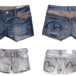 EVISU Vintage-Wash Denim Cut-Offs