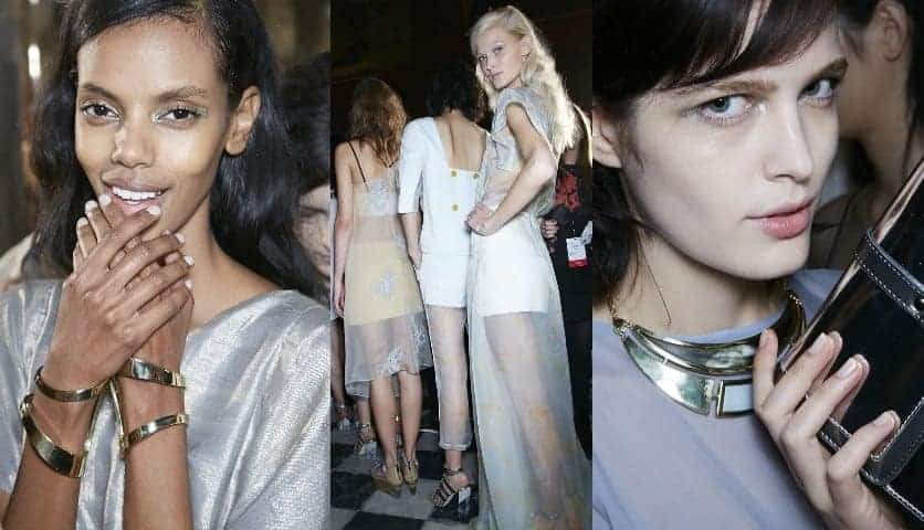 Backstage At Maiyet SS14, Paris Fashion Week