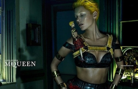 Kate-Moss-by-Steven-Klein for Alexnader McQueen, first look, FashionBite