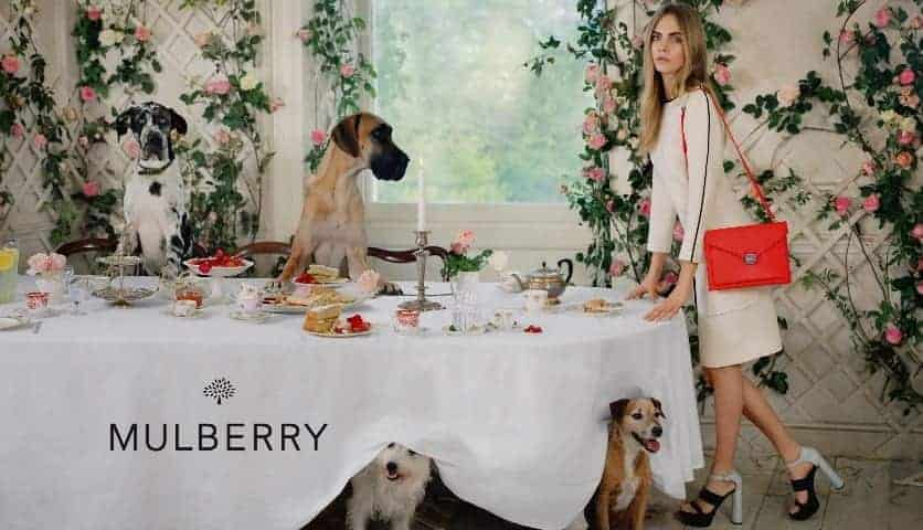 Cara Delevingne's Animal Tea Party For Mulberry