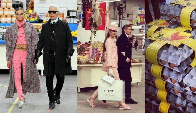 Chanel's Supermarket Chic At Paris Fashion Week