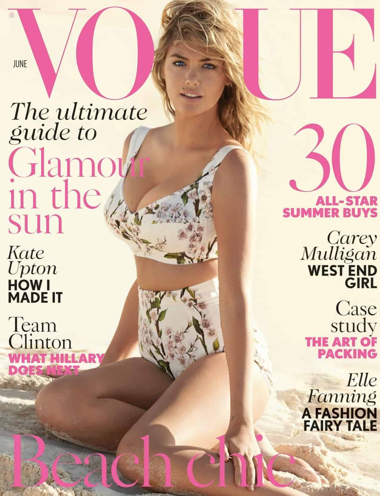 Kate Upton covers Vogue's June issue, FashionBite