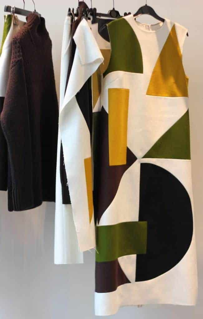 Jasper Conran's LFW collection in the studio