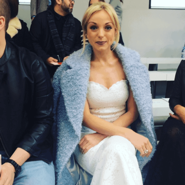 Actress Helen George spotted front row at LFW