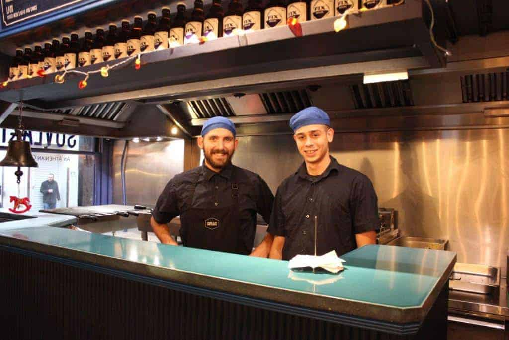 Chefs at Suvlaki in Soho