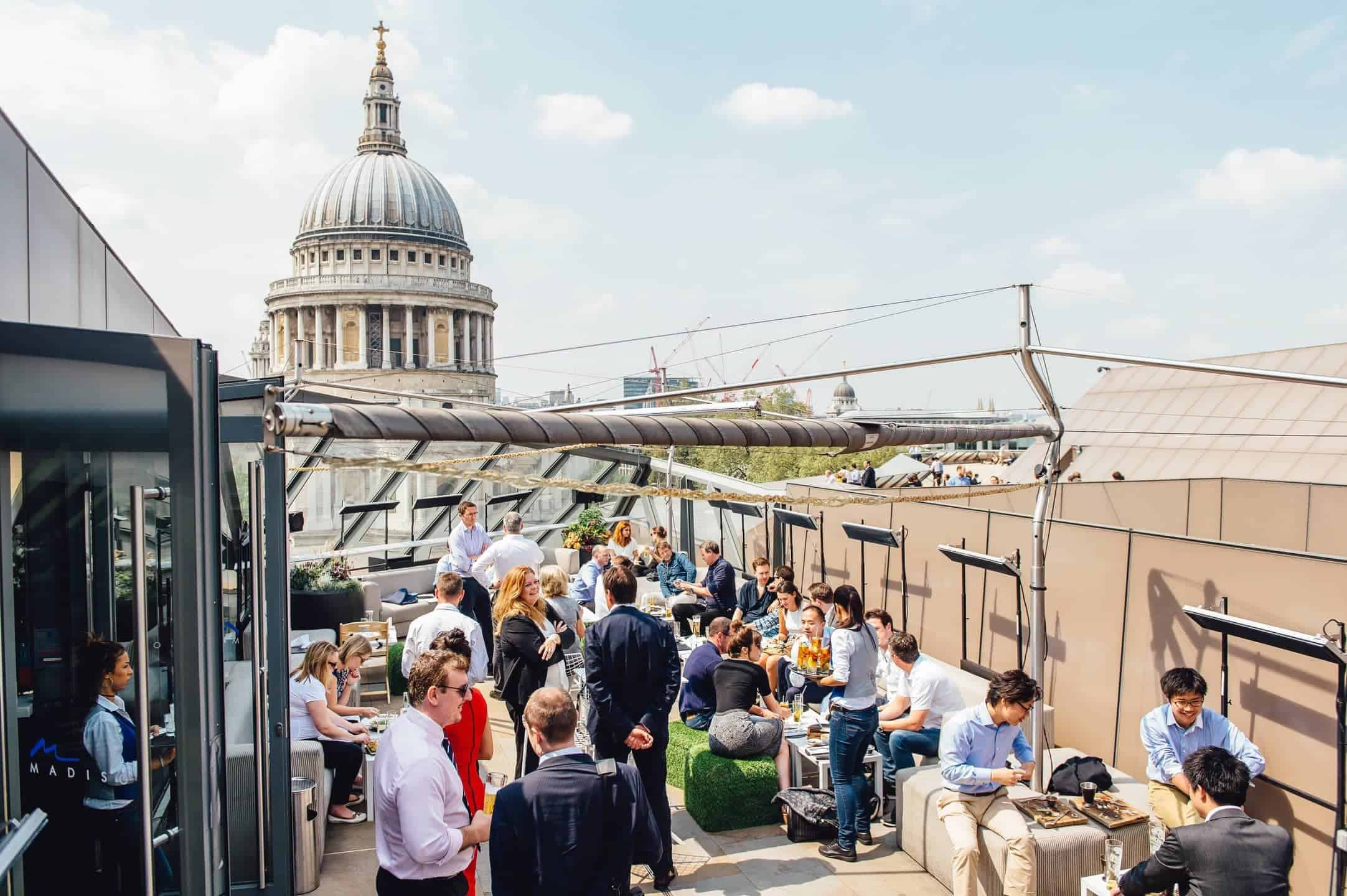 Madisons rooftop bar in London's St Paul's, FashionBite
