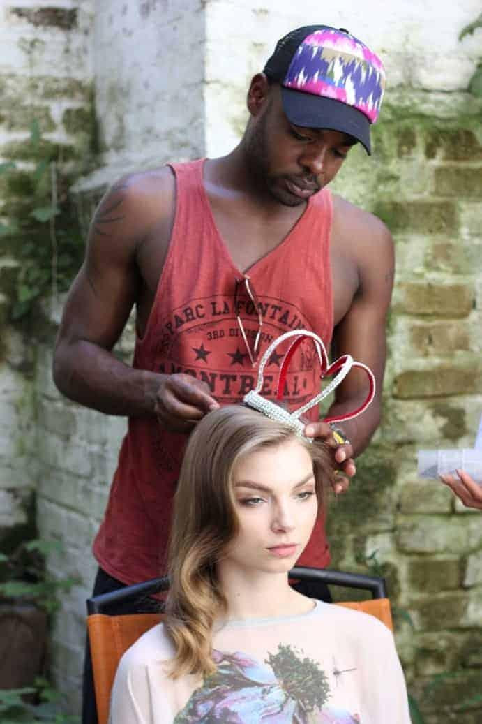 Kieron Lavine at the FashionBite shoot