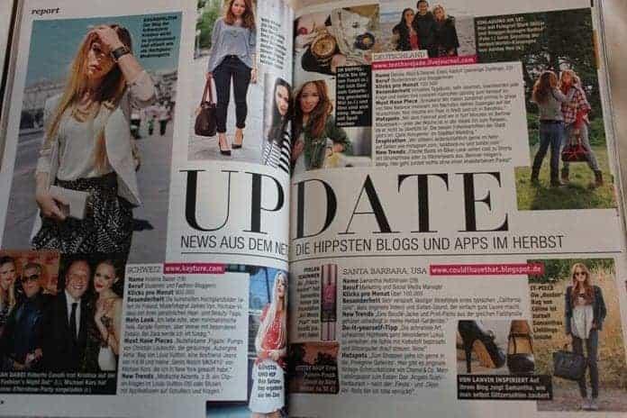 FashionBite editor Emily Seares is interviewed in German fashion magazine JOY