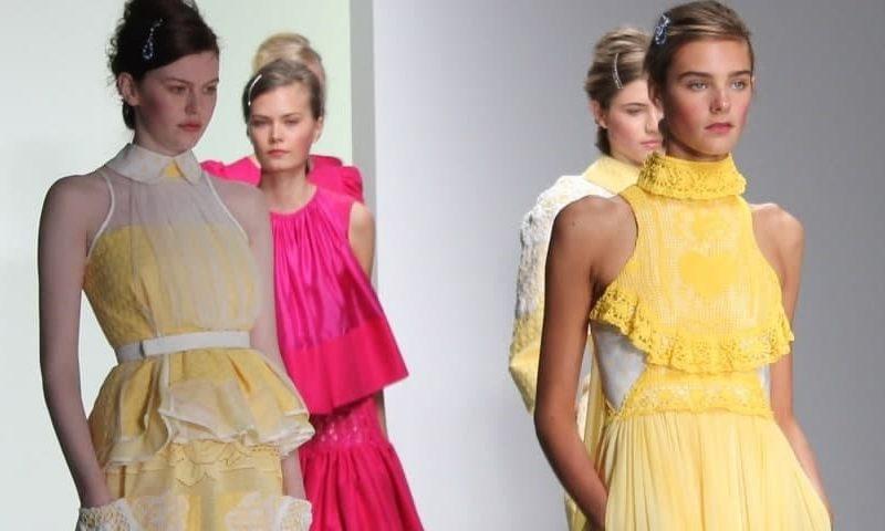 bora aksu ss14 at London Fashion Week, FashionBite