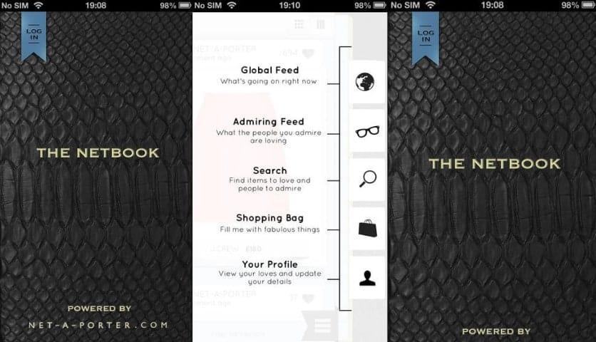 Net-a-Porter Unveils New Social App 'The Netbook'