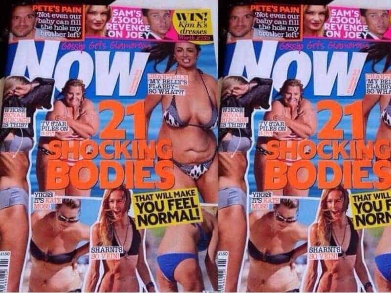 Now magazine shocking body shaming, FashionBite