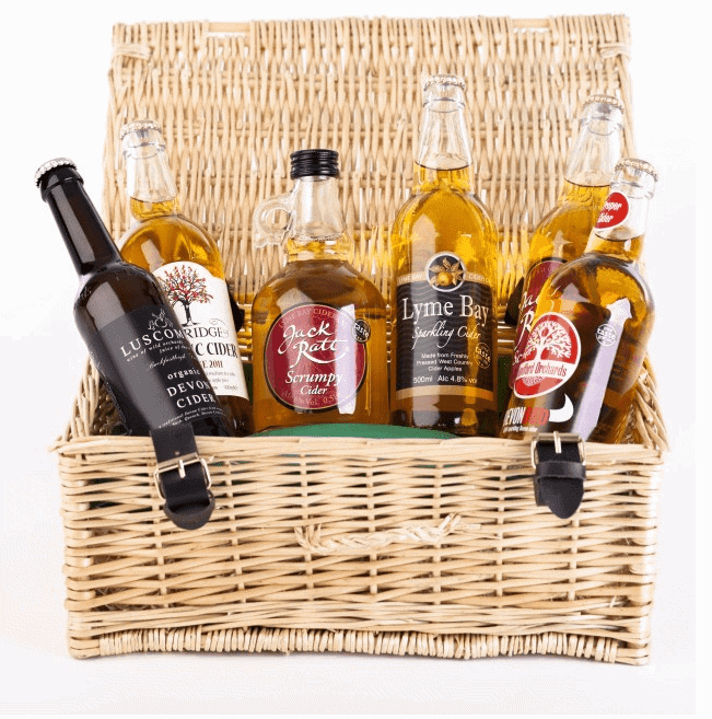 Devon Hampers cider hamper