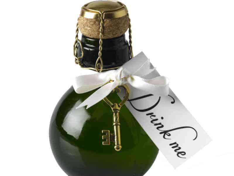 Drink Me sparkling wine