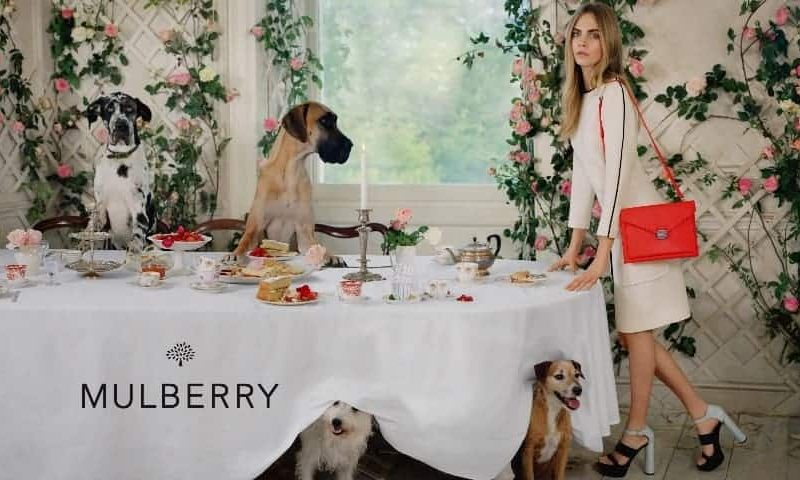 Cara Delevingne hosts an animal tea party for Mulberry, FashionBite