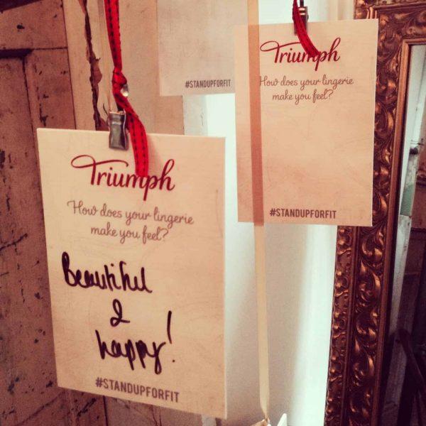 a lingerie fitting with Triumph, FashionBite