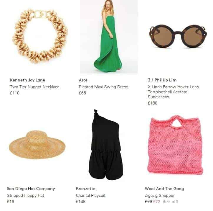 Lyst at FashionBite, what to pack for a summer holiday