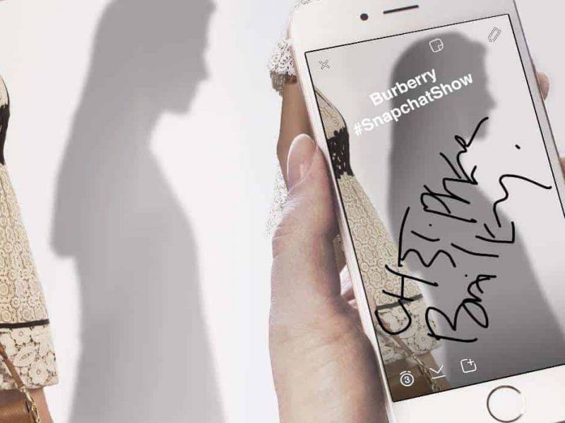 Burberry partners with Snapchat for London Fashion Week, FashionBite
