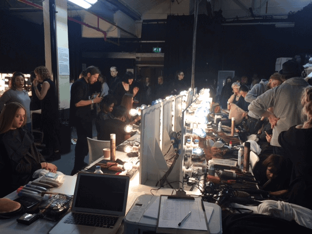 Backstage chaos, FashionBite, London Fashion Week