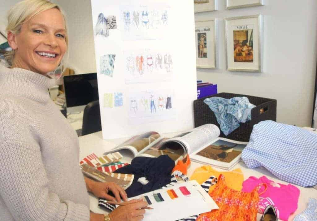 Heidi Klein founder Heidi Gosman in her design studio