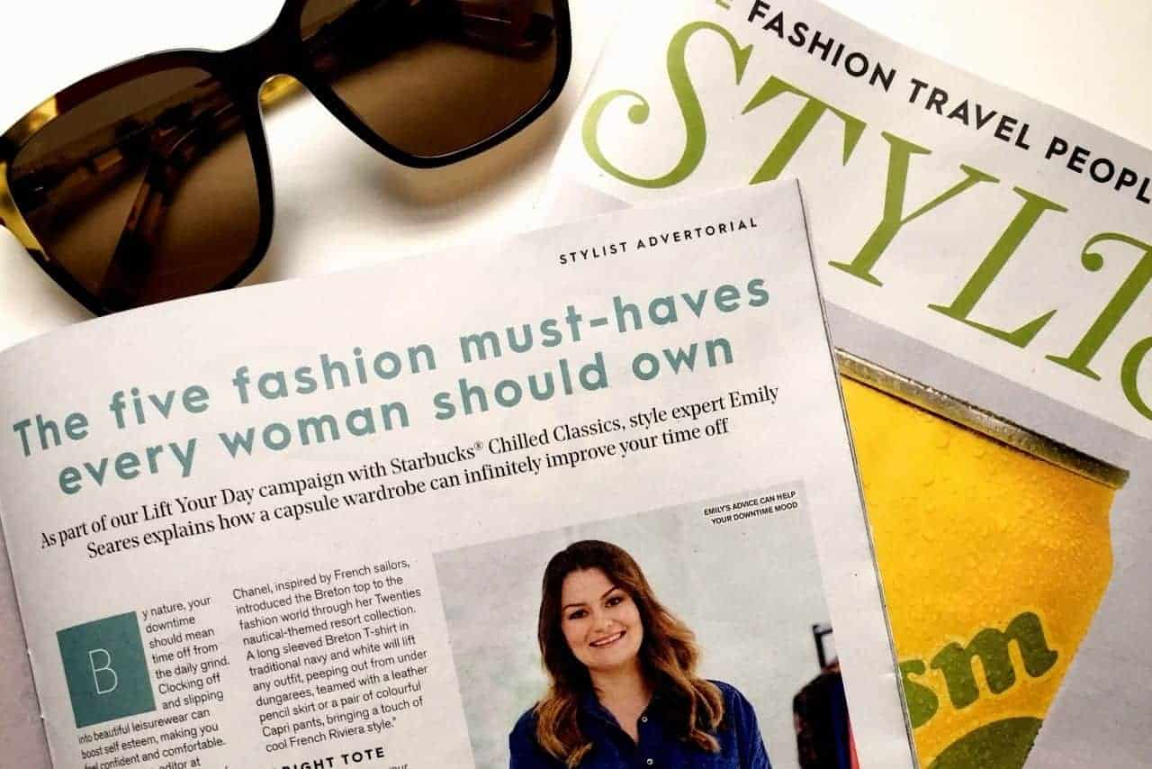 FashionBite editor Emily Seares in Stylist magazine 2