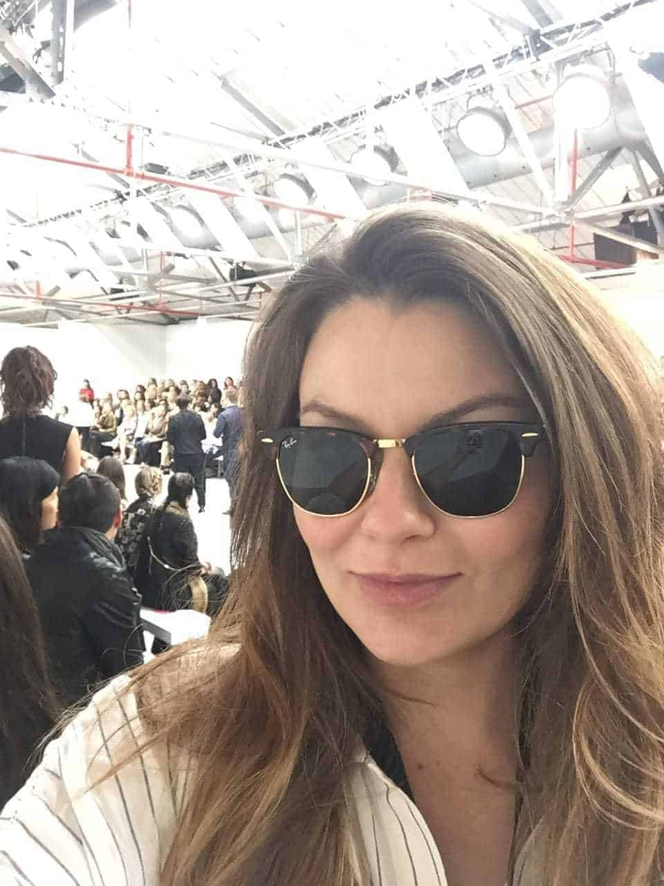 London Fashion Week SS17, Emily Seares in Ray Bans
