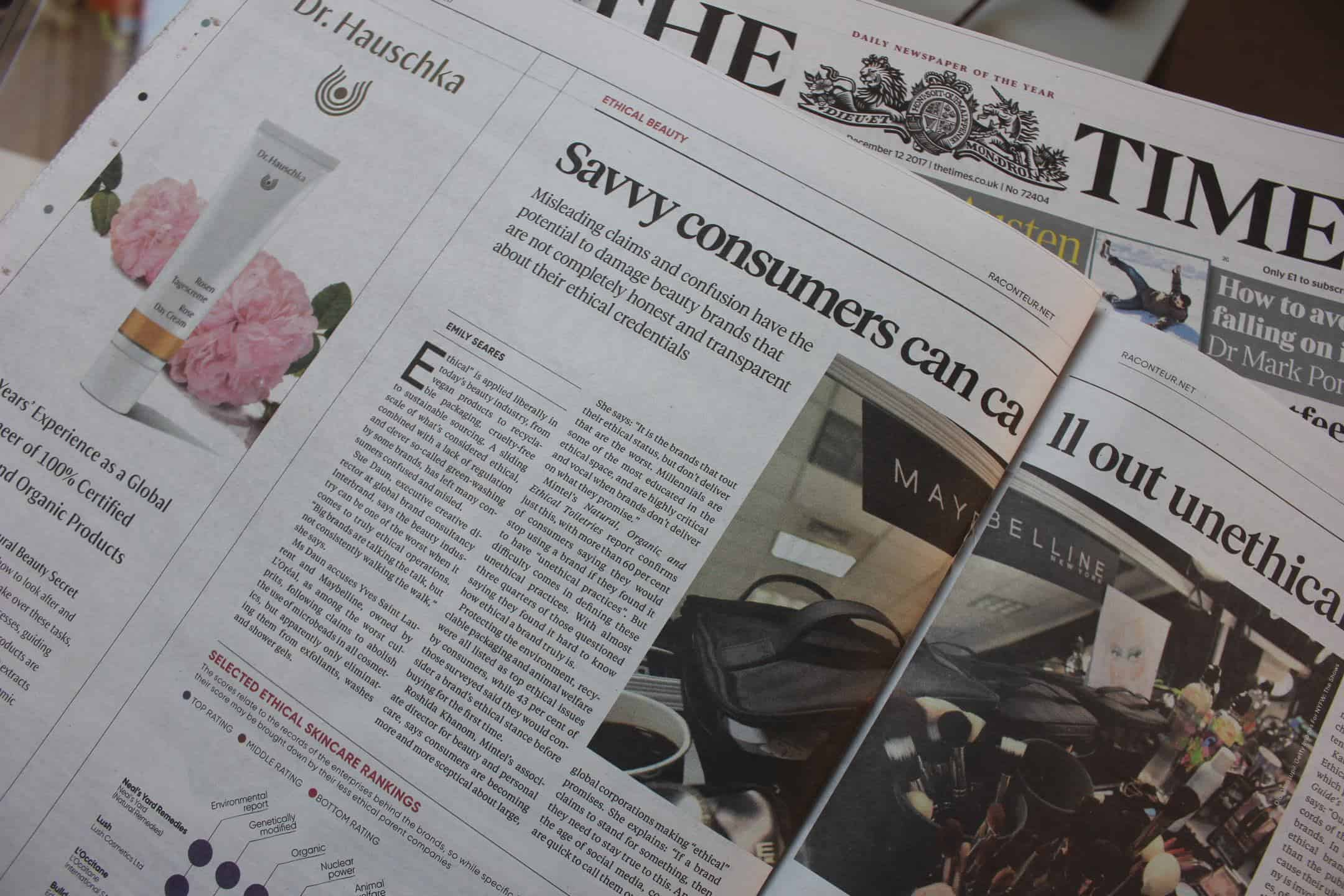 Journalist Emily Seares writes for The Times Beauty Economy report
