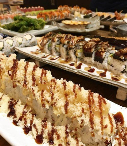 crunchy prawn roll steak and sushi angel