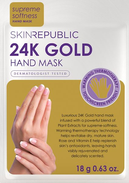 24k gold hand mask skin republic