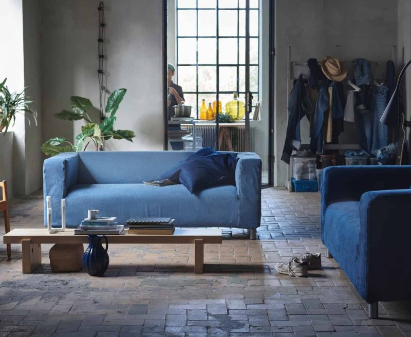 Would you buy a sofa made from old jeans? | FashionBite