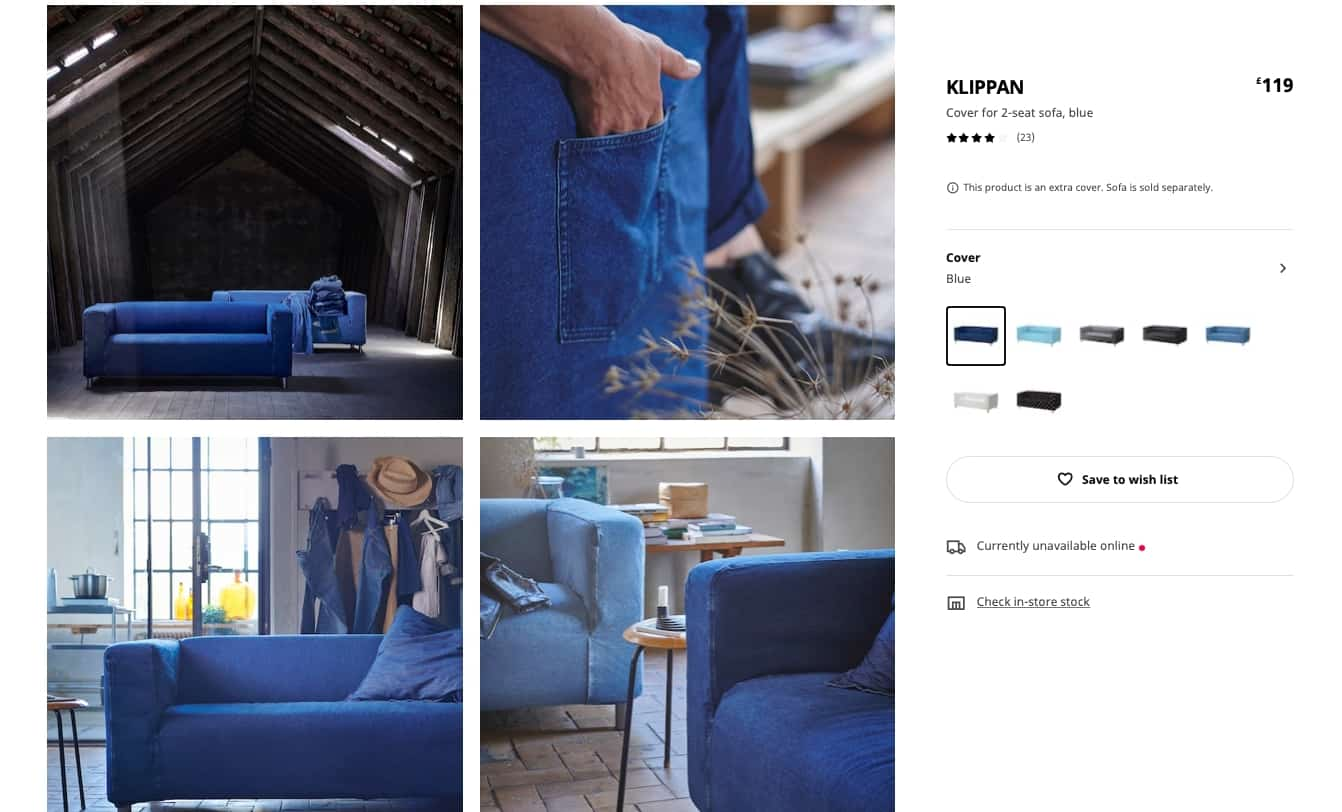 WOULD YOU BUY A SOFA MADE FROM OLD JEANS?